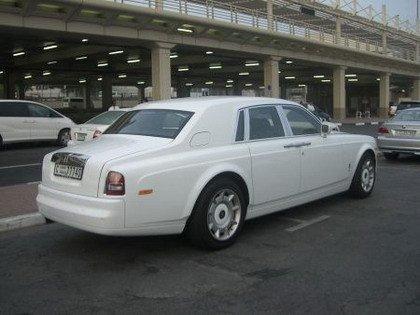 Coche blanco Dubai