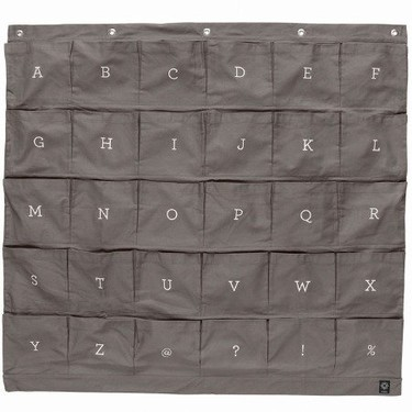 Organizador alfabético para colgar en la pared