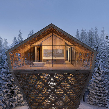 True Suites o el lujo de dormir entre las copas de los árboles de un bosque de Austria