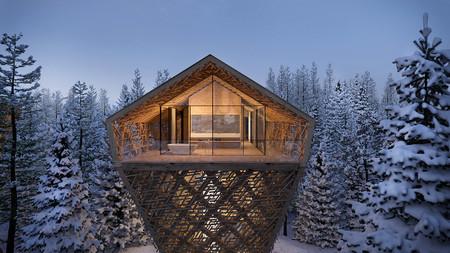 Tree Suites o el lujo de dormir entre las copas de los árboles de un bosque de Austria