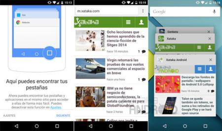Chrome para Android deja de combinar las pestañas y aplicaciones para siempre y renueva su widget