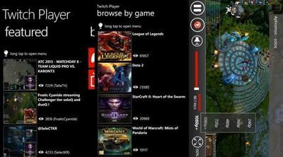 Twitch Player, aplicación no oficial del servicio de streaming para Windows Phone 7