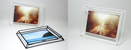 Marco tridimensional para las fotos