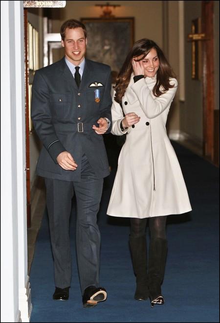 Kate Middleton Abrigo Blanco