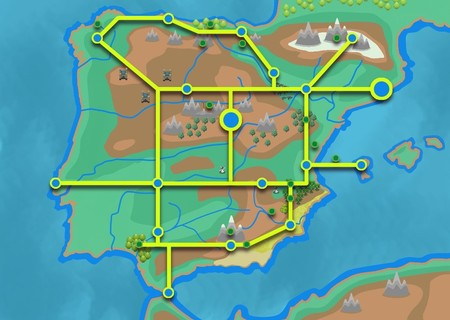 Mapa Iberia