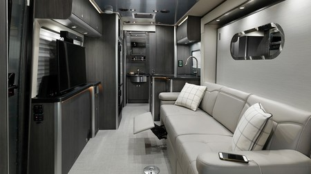 My2020 Airstream Atlas Interior Modern Greige Recliner Up Tv Up