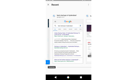 Google Search Recent