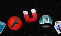 Grupo IconWords en flickr: Construye palabras con iconos del Dock