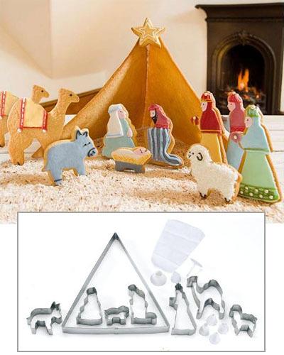 Navidad: cortadores para un Belén de galletas