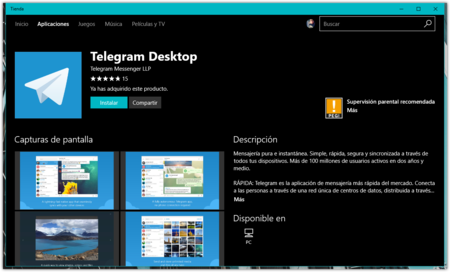 Telegram Tienda De Windows