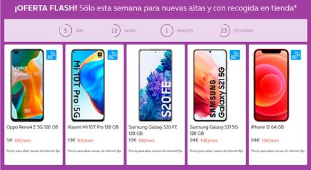 Oferta flash en Movistar: iPhone 12, Samsung Galaxy S21 y más móviles 5G gratis para nuevas altas en Fusión
