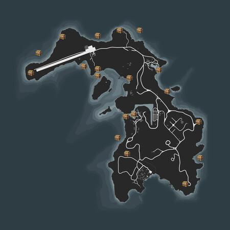 Mapa Cayo Perico Cofres