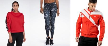 14 ofertas en ropa deportiva Reebok para aprovechar el cupón de descuento EXTRA20, que nos rebaja un 20%  su sección outlet