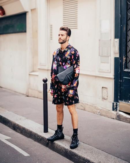 Prince Pelayo Diaz Short Ancho Pantalon Corto Trendencias Hombre Street Style 06