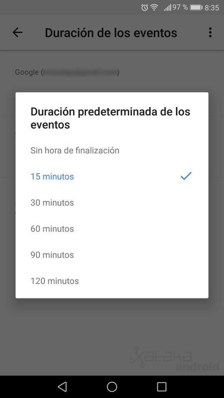 Duracion Eventos Calendar
