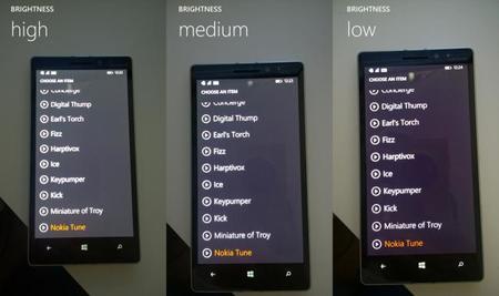 Nokia Lumia 930 parece agarrar un color purpura en las zonas grises, aunque se puede arreglar manualmente