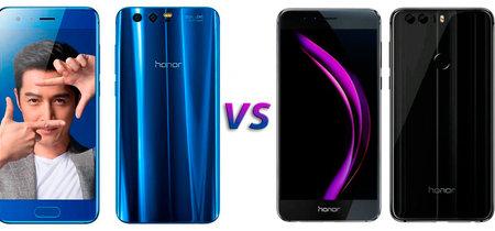 Honor 9 vs Honor 8, comparativa: más potencia y una cámara doble mejorada para lo nuevo de Honor
