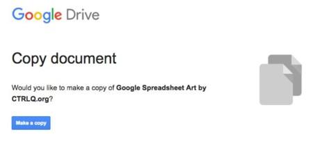 Pixel art en la Hoja de cálculo de Google Docs