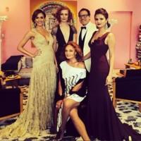 Selena Gomez de Diane Von Furstenberg en un vestido clásico para la Gala del MET 2014