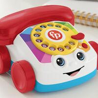 El mítico teléfono de juguete de Fisher-Price está de vuelta, esta vez como un teléfono con ruedas que hasta hace llamadas