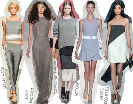 Semana de la Moda de Nueva York Primavera Verano 2014 Tendencias Gris