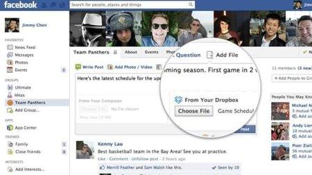 Ahora los grupos pueden compartir ficheros en Facebook mediante Dropbox