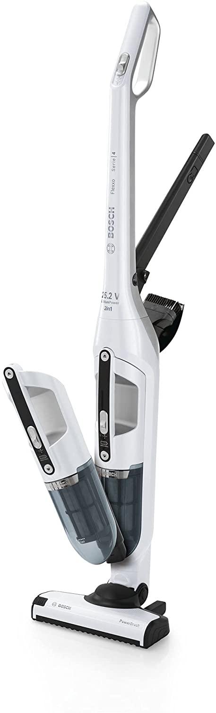 Bosch Flexxo Serie I 4 BBH32551 - Aspiradora sin cable y de mano, de 25.2V, hasta 55 minutos de autonomía, color blanco