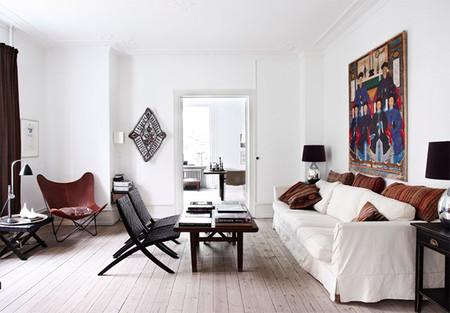 Precioso apartamento danés con toques étnicos