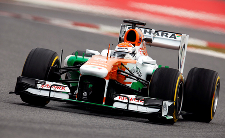 Adrian Sutil Test BCN 2013
