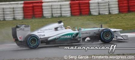 Lewis Hamilton, el más rápido bajo la lluvia