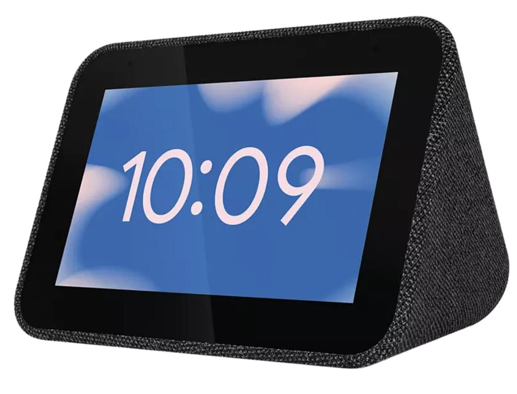 Reloj despertador inteligente - Lenovo Smart Clock, Con Google Assistant, Wi-Fi, Bluetooth, Sonido 6 W, Negro