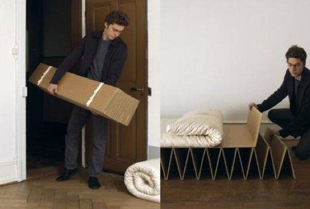 Itbed, un futón sobre cartón