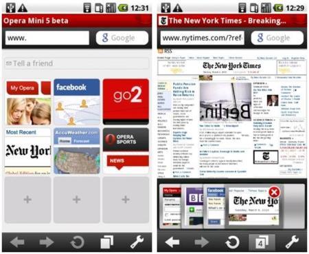 Opera Mini 5 llega a Android en forma de beta pública