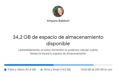 Google almacenamiento fotos