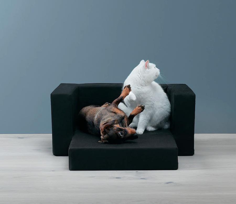 Cama para perro/gato, negro, 68x70 cm