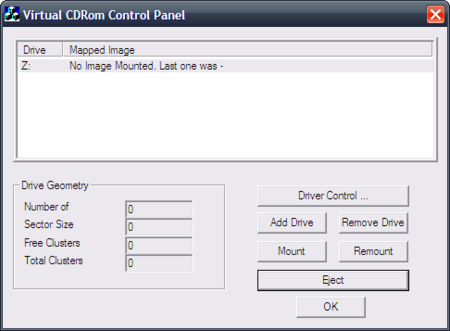 Virtualiza unidades en Windows XP con Virtual CD-ROM Control Panel