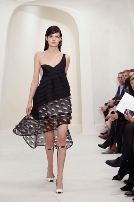 Vestido asimétrico Christian Dior Alta Costura Primavera-Verano 2014