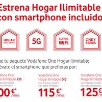 Vodafone responde a los móviles gratis de Movistar Fusión, y los incluye en las tarifas One Hogar ilimitable