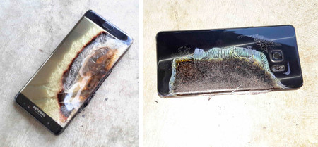 Samsung Galaxy Note 7 baterías defectuosas