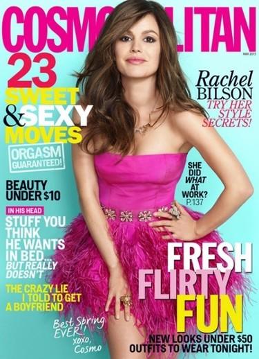 Rachel Bilson, guapísima, fresquísima y rosísima en Cosmopolitan
