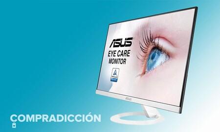 Diseño a buen precio para tu PC: el monitor ASUS VZ279HE-W se puede comprar rebajado en Amazon y Fnac a 175 euros