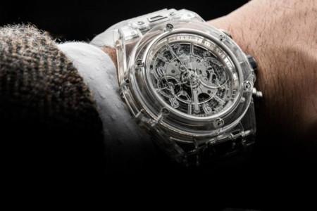 Reloj de pulsera Big Bang Unico Sapphire de Hublot, elegancia pura