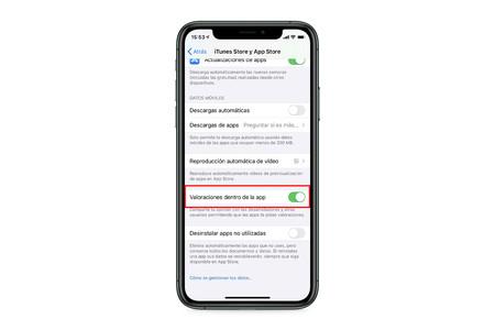 Valoraciones In App