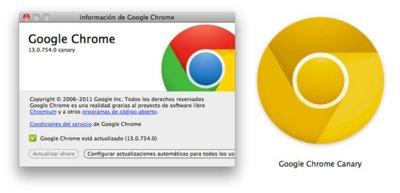 Google Chrome Canary disponible para Mac