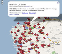 Mapas reales de mortalidad en las carreteras: porque te puede pasar a tí