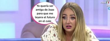 Rocío Flores pide perdón entre lágrimas por haber brotado contra Maestro Joao en 'Tierra de Nadie' y Ana Rosa Quintana le riñe por su bochornosa actitud en plató