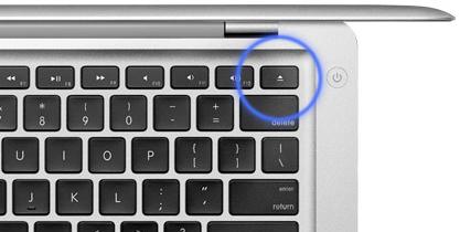 Tecla de expulsar en el MacBook Air