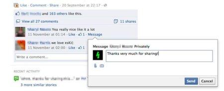 Facebook prueba una nueva característica que permite a los usuarios enviar mensajes privados a las páginas