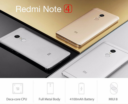 Smartphone Xiaomi Redmi Note 4 64GB por 172 euros