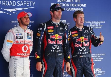Pole de Mark Webber y doblete de Red Bull en la clasificación del Gran Premio de Corea
